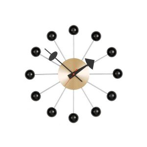 Vitra Ball Clock seinäkello, musta - messinki